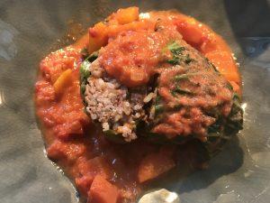Rezept Rezeptidee Tomatensoßenchallenge Weinbergschlösschen Wirsingrouladen mit Tomaten-Paprika-Soße Foodblog Sternestulle